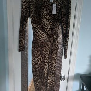 Animal Print Short Casual Dress